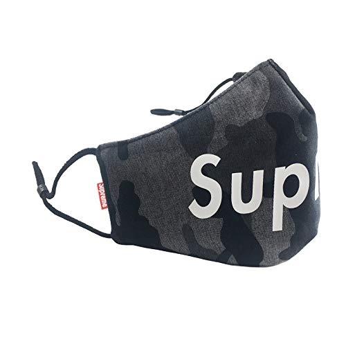 Camo Supreme Face Mask Gaiter Balaclava Bandanas | Soft & Cool & Breathable | Washable for Women, Men and Kids - Gray