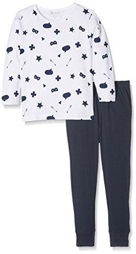 NAME IT NAME IT Baby-Jungen NMMNIGHTSET NOOS Zweiteiliger Schlafanzug, Mehrfarbig (Bright White), 92