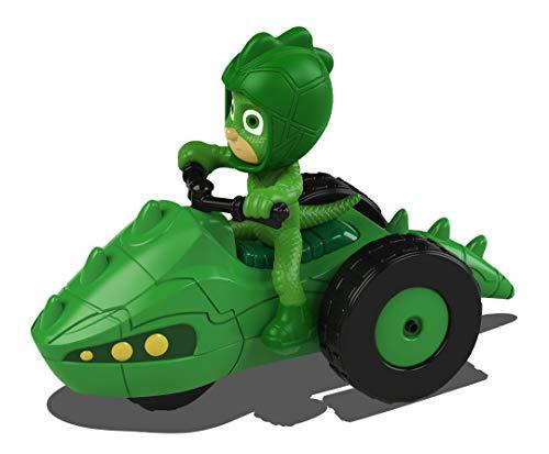 Dickie Toys 203141012 PJ Masks Gekko Moon Rover 203141012-PJ - Mascarilla de Juguete (Incluye Figura, 7 cm), Color Verde