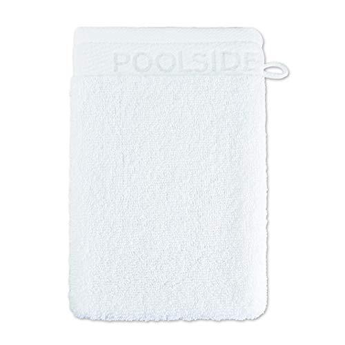 Gant de Toilette Möve Poolside - 20 x 15 cm - Fabriqué en Allemagne - 100 % Coton - Blanc