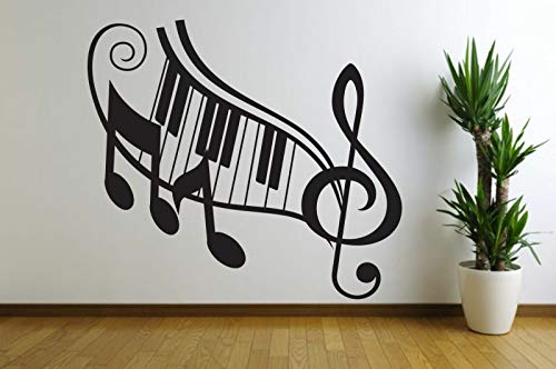 Music Note Piano Home Wall Decal Quote Decor Art Shape Sound 12 Inch In Width
