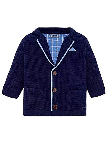 Mayoral 29-01428-080 - Strick-Blazer für Baby - Jungen 9 Monate (74cm) Blau