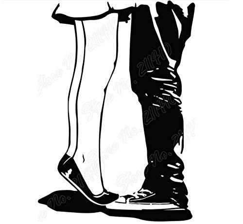 Muursticker Art Decor Zelfklevend Waterdicht Behang Op De Tip Van De Tenen Zoenen Hideout Muursticker Slaapkamer Decor Verwijderbare Vinyl Art Muursticker 42x60cm