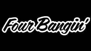 iJDMTOY (1) Four Bangin! JDM Cool Nation Sortaflash Dope Drift Racing Car Window Bumper Die-Cut Decal Vinyl Sticker