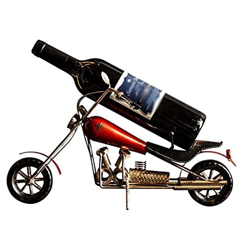 Mesa De Metal para Estantes De Vino, Botella De Vino De Encimera De Hierro Forjado Independiente, Regalo De Gabinete De Vino De Motocicleta, Utilizado para Gabinetes, Bares