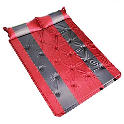 ERHANG Auto-selbstaufblasende Isomatte Mit Kissen Kompakt Und Komfortabel Eingebaute Schwamm-Matratze Für Zelt Reisen Universal Car Camping Für Den Schlaf Und Intim-Bewegung,Red
