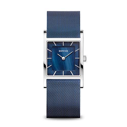 BERING Reloj Analógico Classic Collection para Mujer de Cuarzo con Correa en Acero Inoxidable y Cristal de Zafiro 10426-307-S
