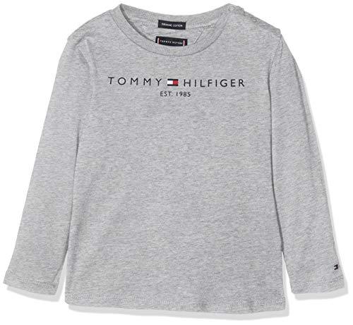 Tommy Hilfiger Essential Hilfiger Tee L/s Maglia a Maniche Lunghe, (Grey Pz2), 116 (Taglia Produttore: 6) Bambino