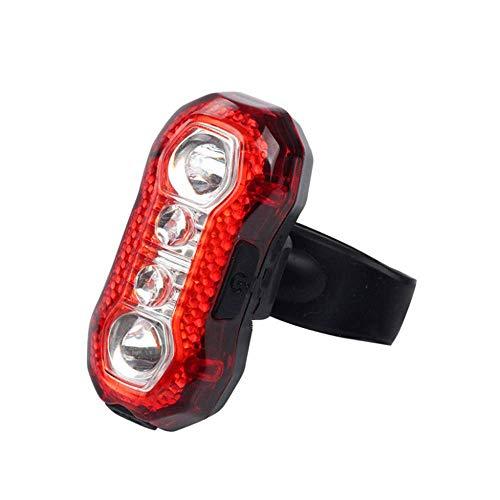 Coda ricaricabile a LED bici posteriore Luce luminosa eccellente 5 Modalità di sicurezza rosso in bicicletta luce si adatta a qualsiasi Biciclette Casco Zaino wzmdd