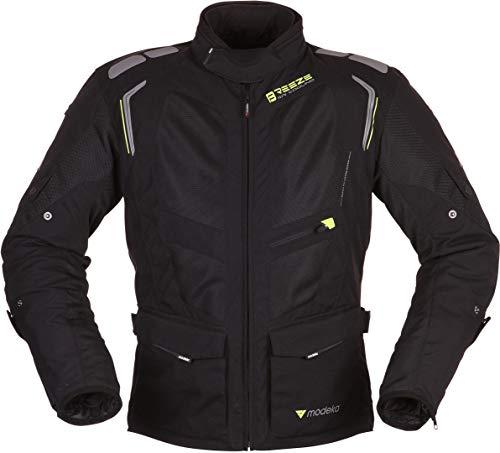 Preisvergleich Produktbild Modeka Breeze Textiljacket Lang Schwarz / Neon 3XL
