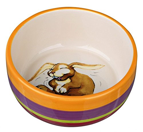 Trixie 60803 Keramiknapf, Kaninchen, 250 ml/ø 11 cm, bunt/creme