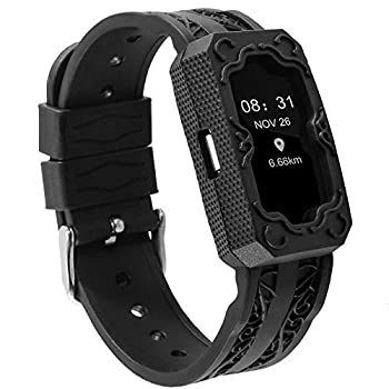 Nigaee Replacement Bands for Fitbit Charge 2 Men Women Upgraded Silicone Sport Replacement Strap Adjustable Wristband with Rugged Protective Wristband Case Sport Strap Smartwatch Fitness Wristband