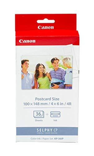 """Canon KP-36IP - Pack de papel fotográfico y tinta (36 hojas, 4x6"""", 100 x 148 mm)"""