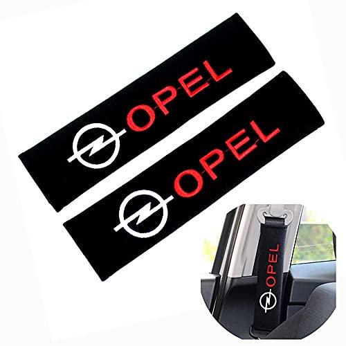 2 Stück Kohlefaser Sicherheitsgurtpolster,Schutz Gurtpolster Sicherheitsgurt, für Opel OPC Astra G H J Corsa D Insignia Mokka Zafira B