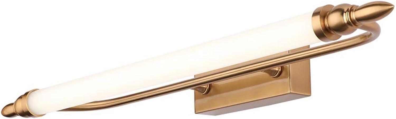 SXFYWYM Retro Lamp Mirror Light LED Bad Bad Acryl Wandlampen Dressing Table Corridor,Gold,55cm