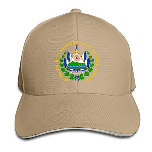 wu Escudo de Armas de El Salvador Hombres Gorra de béisbol de Perfil bajo Ajustable Sombrero de papá