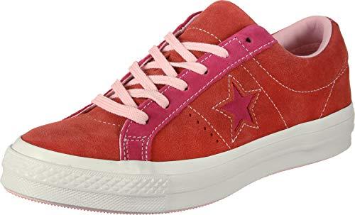 Converse Lifestyle One Star Ox, Zapatillas Unisex Adulto, Multicolor (Enamel Red/Pink Pop 603), 43 EU