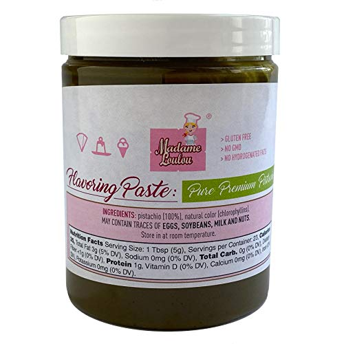 Madame Loulou 8oz (227g) Pure Pistachio Paste for flavoring pastry, ice cream, confectionery and more (8oz)