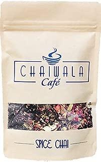 Chaiwala Spice Chai - Masala Chai Black Tea Loose Leaf (24 Cups) | Tea for Boosting Energy | 100% Natural Rose Petals Tea, Cinnamon Tea, Clove Tea, Star Anise Tea, Cardamom Tea, Ginger Tea | Pure Loose Leaf Tea | No additives - 4oz