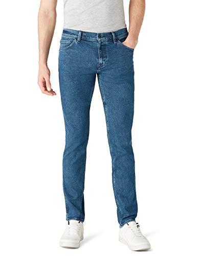 Levi's Black Line 8 - Pantalones vaqueros rectos para hombre, color negro Azul azul 32W/32L