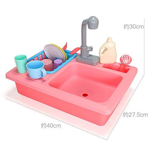 HNLY Kinderspielzeug KüChenspielzeug Simulation Mahlzeit KüChengeschirr Kindergeschirr GeschirrspüLer Set RPG Interaktives Lernspielzeug