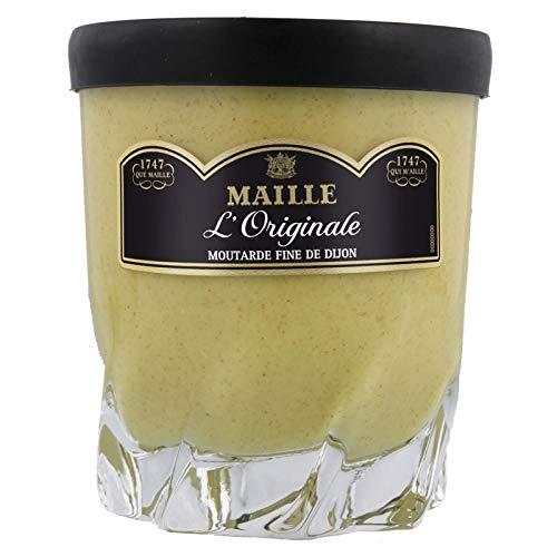 Maille Lâ € ™ Original-Feiner Senf aus Dijon (Shaped Glas für Whisky) 280G (6er-Set)