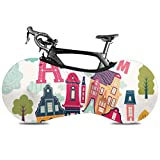 Olive Croft Amsterdam Doodle Cubierta para Bicicletas Cubiertas para Bicicletas Cubierta de Bicicletas Fit Casi Todas Las Bicicletas