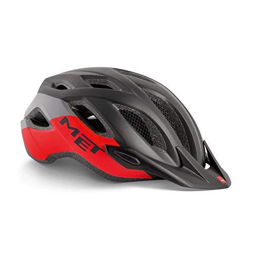 MET Crossover Fahrradhelm, Black Red, XL