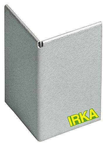 IRKA Ecke verzinkt Rasenkantenband 15cm | Alu/Zink Metall Rasenkante Eckverbinder | flexibel Rasenkanten aus Galvalume | Flexible Beeteinfassung Metall Ecke| Eckstück im Garten