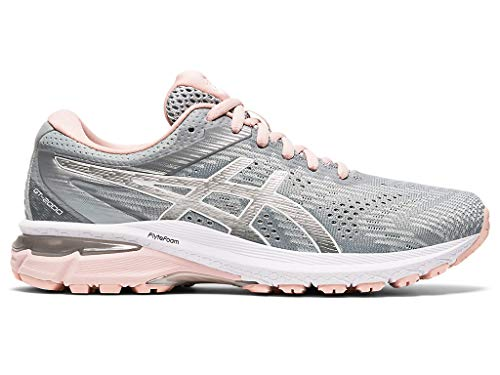ASICS Women's GT-2000 8 Running Shoes, 9.5M, Sheet Rock/Pure Silver