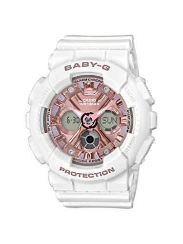 CASIO Damen Analog – Digital Quarz Uhr mit Resin Armband BA-130-7A1ER