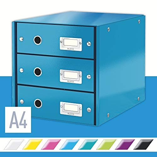 LEITZ 60480036 - Buc de 3 cajones (290x283x360 mm) color azul