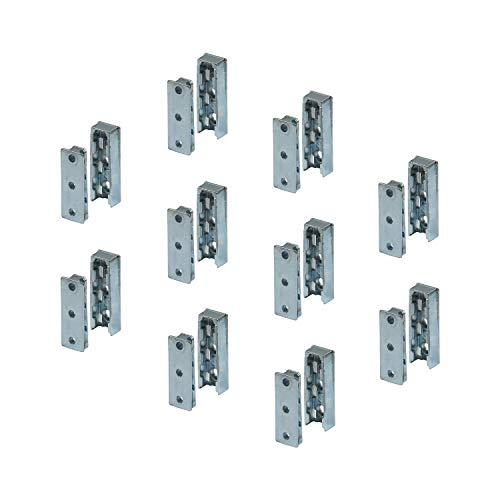 Gedotec M/öbelverbinder f/ür Kleiderschrank M/öbel-Klammer zum Befestigen H3501 Schrank-Verbinder f/ür M/öbel-R/ückw/ände R/ückwand-Verbinder zum Schrauben R/ückwand-Klammer Stahl verzinkt 100 St/ück