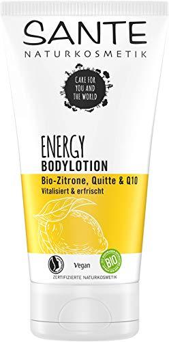 Sante Naturkosmetik ENERGY Bodylotion, mit Bio-Zitrone, Quitte & Q10, Pflege für jede Haut, vitalisierend und straffend, vegan, 150 ml