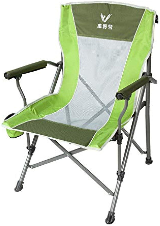 LBYMYB Chair Outdoor Folding Chair Portable Stool Back Chair Beach Balcony Leisure Chair Fishing Chair Green 56x95cm Folding Chair