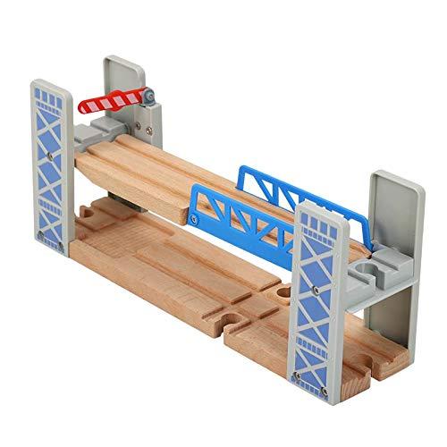 sharprepublic Pista de Madera y Puente de Tren se Adapta a Thomas Kids construcción amigable y Juguete de construcción-Ampliable, cambiable-diversión para niñas y