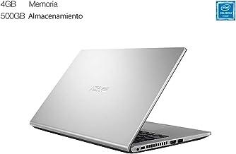 """Asus Laptop 14"""" Celeron, 4GB RAM, 500GB HDD, Plata,"""