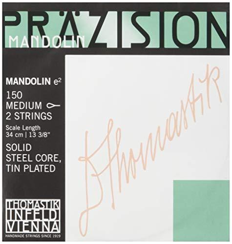 Thomastik Einzelsaite E 150mittel (1 Paar) verzinnter Silberdraht für Mandoline Präzision Satz 154mittel