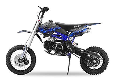 Dirtbike 125cc SKY 14/12 con Invertido Down Tenedor XXL Dirtbike Moto cross Pitbike - Azul