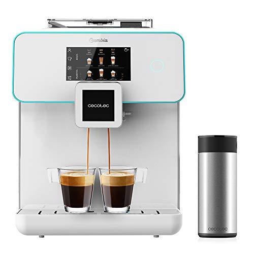 Cecotec Cafetera megautomática Cumbia Power Matic-ccino 9000 Serie Bianca. Personaliza Intensidad, Temperature, café, Leche y Espuma,19 Bares de presión, Pantalla LED, 5 Niveles de molido