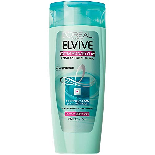 L'Oreal Paris Elvive Extraordinary Clay Rebalancing Shampoo, 12.6 fl. oz. (Packaging May Vary)