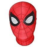 QWEASZER Peter Parker Spider-Man Máscara Negro Miles Morales Arnés Lycra Máscara Facial Completa Película de Halloween Cosplay Accesorios de Vestuario Accesorios,Spiderman D-OneSize