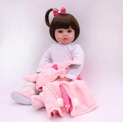 """iCradle Reborn Baby Doll Niña Realista 24 Pulgadas 61cm Hermosa Muñeca Silicona Hecho a Mano Bebe Reborn Toddler Recien Nacido (18""""/45cm)"""