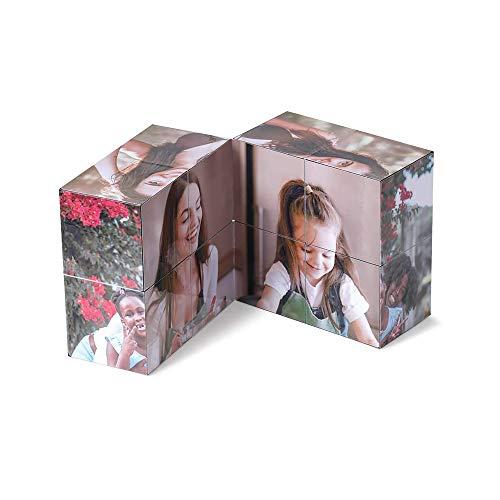 Marco de cubo de fotos personalizado 3D Marco de fotos múltiple personalizado Decoración Regalos para parejas Amigos Niños (9 fotos)