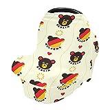 Funda para lactancia materna, fundas para asiento de coche de cerveza de Berlín, elásticas, suaves, transpirables, multiusos, para bebés, regalo para niños y niñas