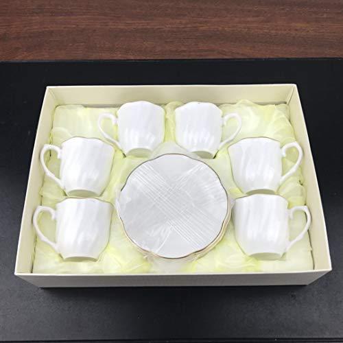 siyao Tazza di caffè Set di Tazze di caffè in Ceramica all'Ingrosso Continental Bone China China Tea Piattino Piattino Oro Maniglia Regalo Tazza di caffè 51-100 Ml Sezione B