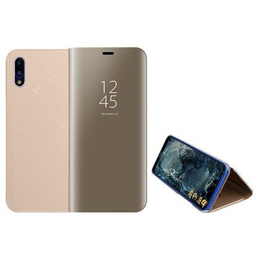 Funda® Espejo Enchapado Flip Funda para Xiaomi Mi 8 Pro (Oro)