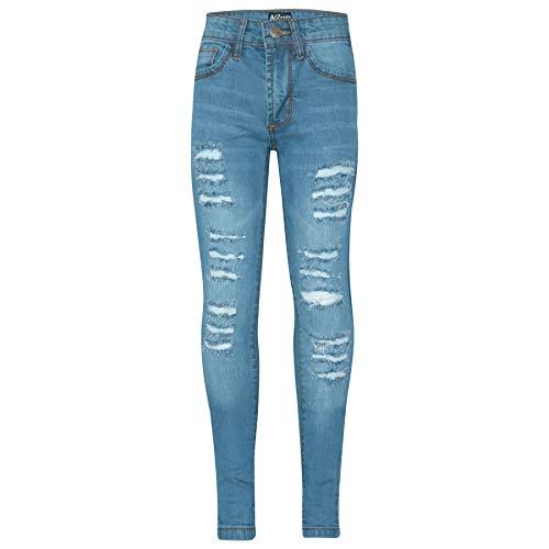 A2Z 4 Kids A2Z 4 Kids Kinder Mädchen Dünn Jeans Designer Denim - Girls Jeans JN28 Light Blue 7-8