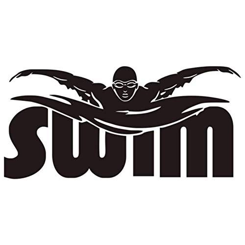 Gesundheit Fitness Sport Wandaufkleber Schwimmen Buchstaben Silhouette Hause Abnehmbare Viny Sport Boy Wand Dekorative Decalsa018