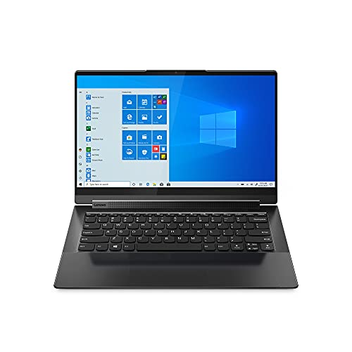 Lenovo Yoga 9i 14 Inch 2-in-1 Laptop (Intel Core i7, 16GB RAM, 512GB SSD, UHD IPS Display, Dolby Atmos Speaker System) - Shadow Black with Black Leather Lid